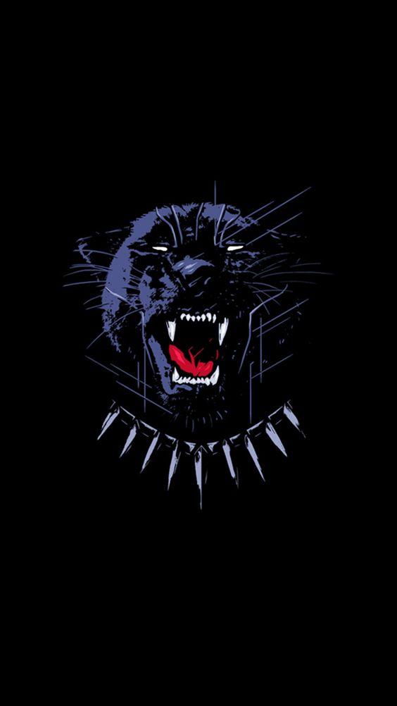 Black Panther Dark Minimal Wallpaper