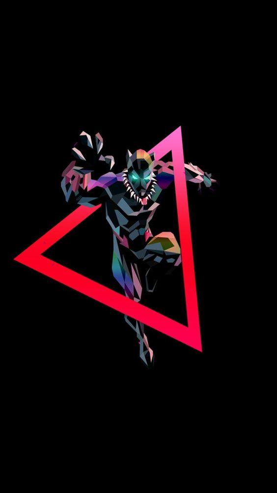 Black Panther Geometric Art Wallpaper