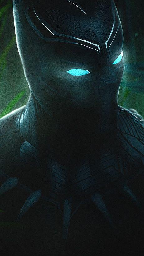 Black Panther Glowing Eyes Wallpaper