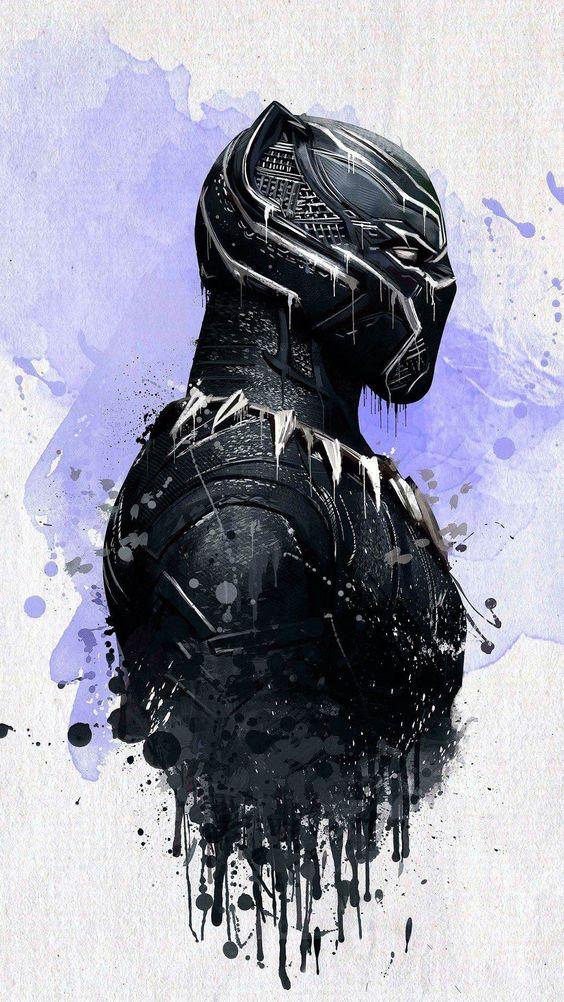 Black Panther Painting Artwork Wallpaper