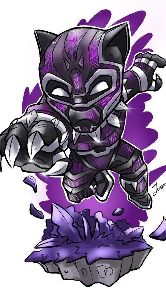 Black Panther Purple Suit Art Wallpaper