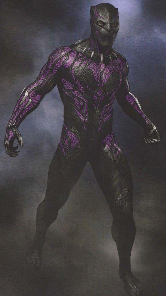 Black Panther Purple Suit Vibranium Wallpaper