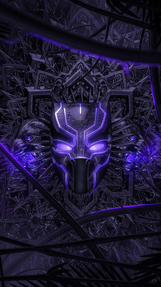 Black Panther Purple Vibranium Suit Wallpaper