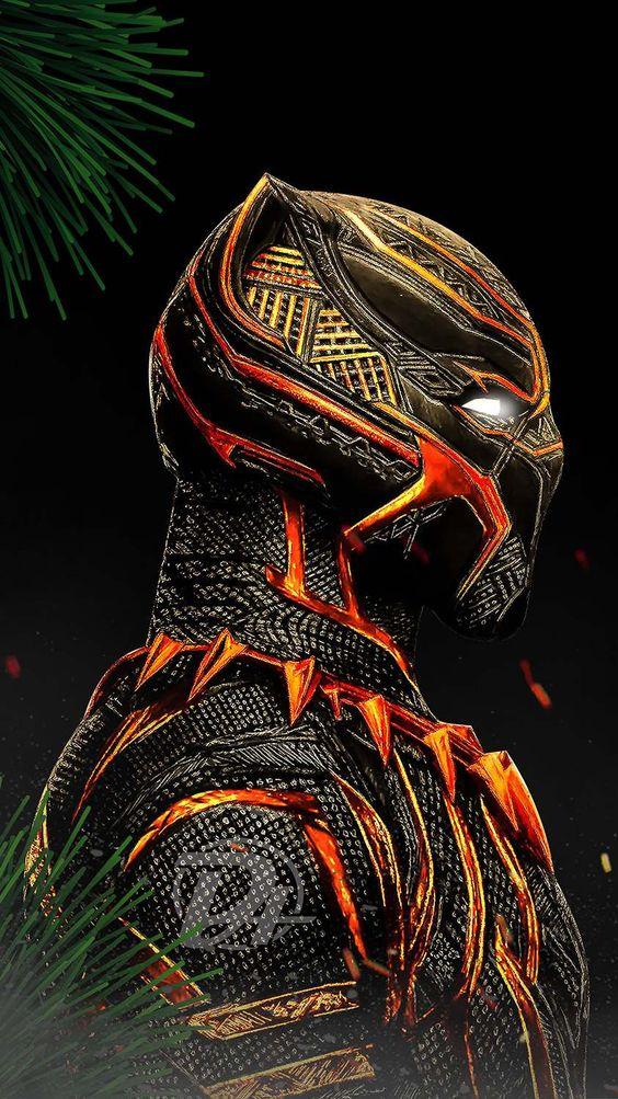 Black Panther Red Suit Wallpaper