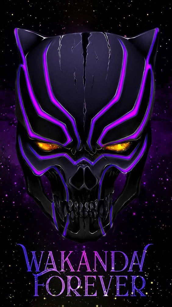 Black Panther Skull Wallpaper