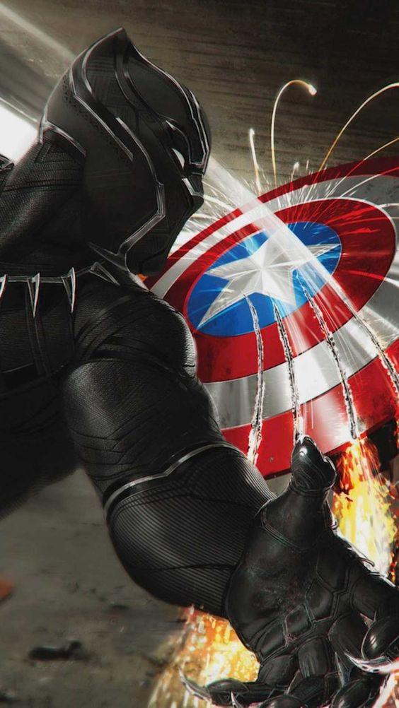 Black Panther vs Captain America Wallpaper