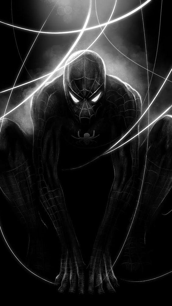 Black Spider Man Wallpaper