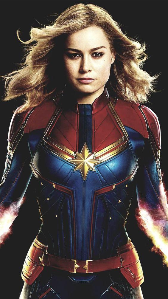 Brie Larson Captain marvel Wallpaper