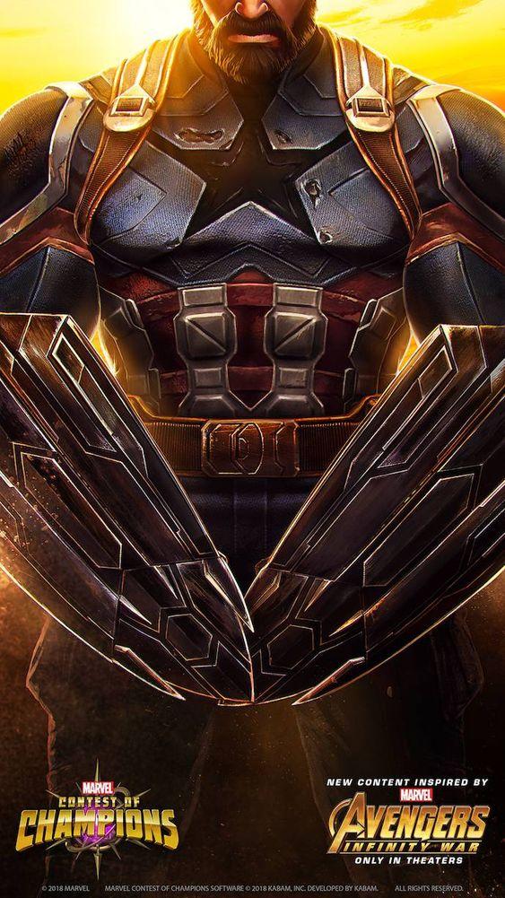 Captain America Avengers Poster Wallpaper