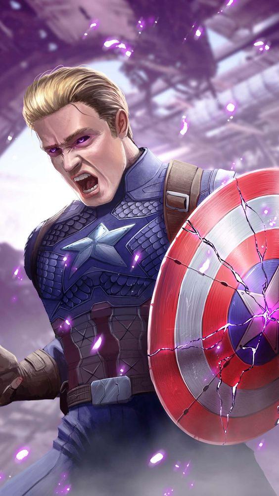 Captain America Broken Shield Wallpaper