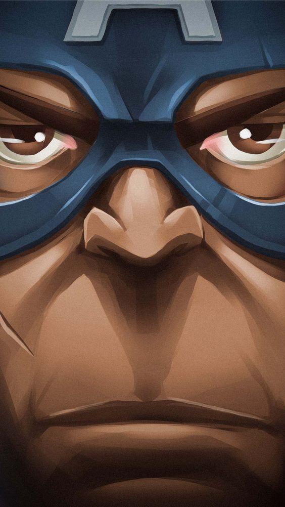 Captain America Face Wallpaper