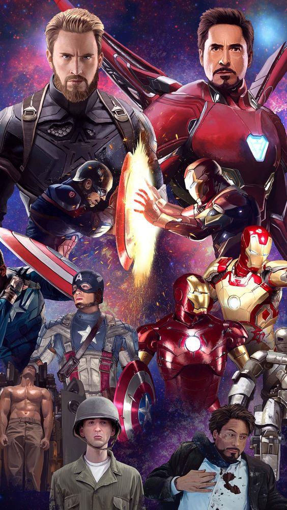 Captain America and Iron Man History Wallpaper