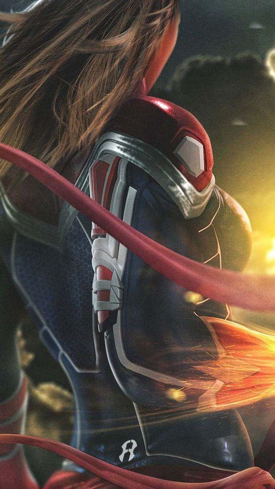 Captain Marvel Action Wallpaper