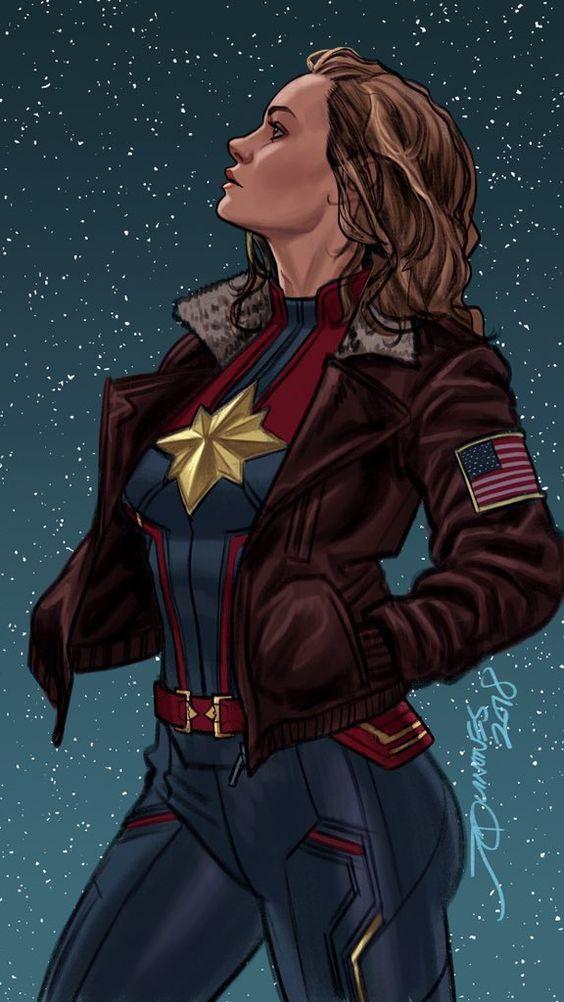 Captain Marvel Comic Wallpaper