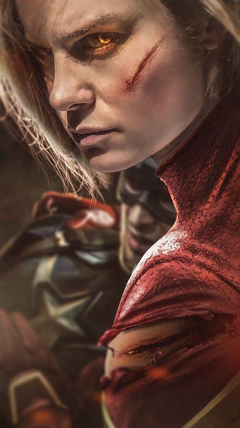 Captain Marvel Fight Wallpaper