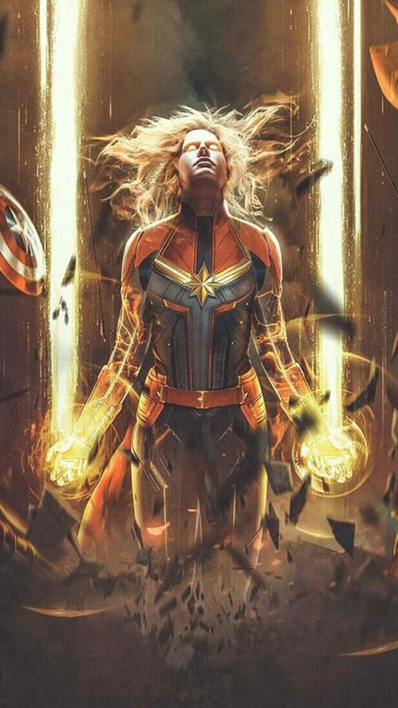 Captain Marvel Most Powerful Avenger Wallpaper
