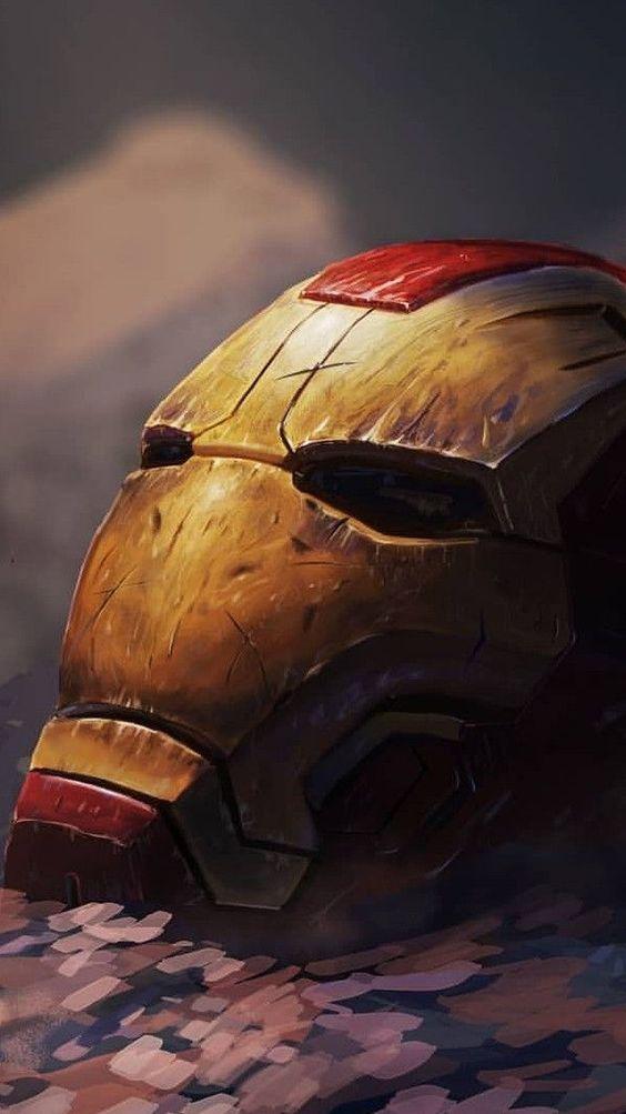 Damaged Helmet Armour Iron Man Wallpaper