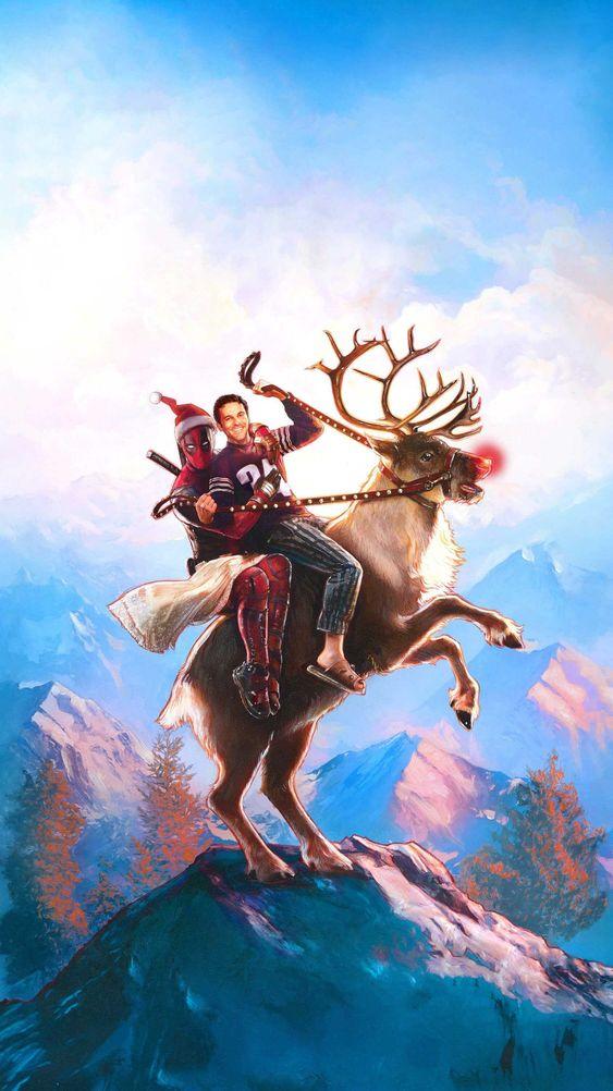 Deadpool Christmas free Wallpaper
