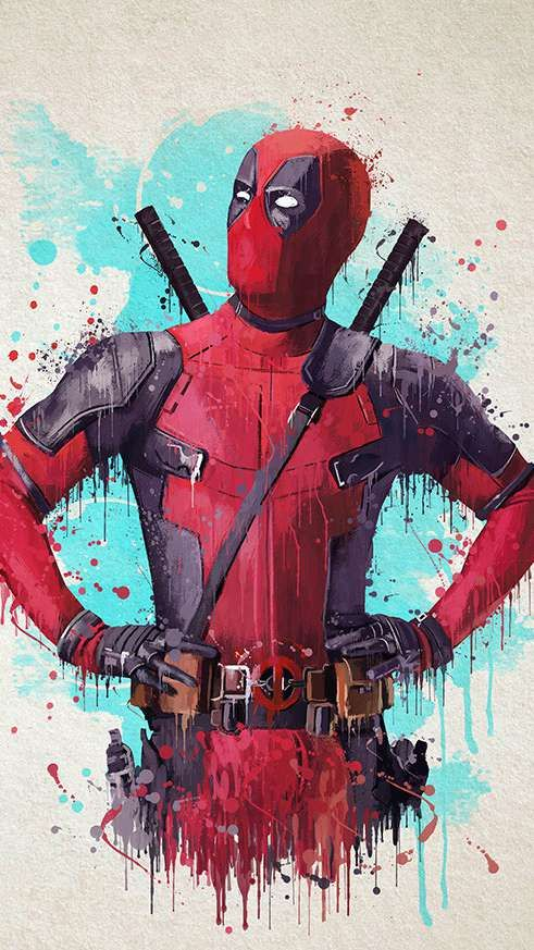 Deadpool Painting Wallpaper