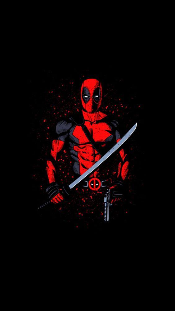 Deadpool with Sword Wallpaper