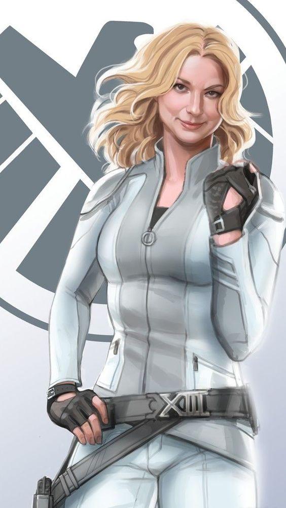 Emily VanCamp Marvel Shield Wallpaper