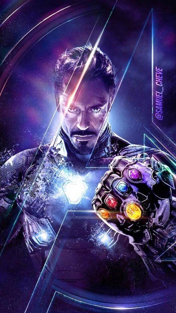 Endgame Tony Stark Infinity Stones Wallpaper