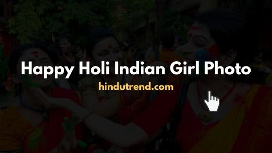 Happy holi Indian girl images