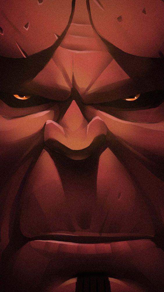 Hellboy Face Wallpaper