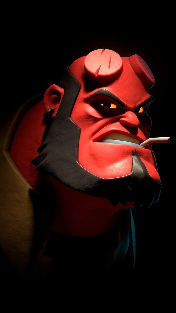 Hellboy Funny Face Wallpaper