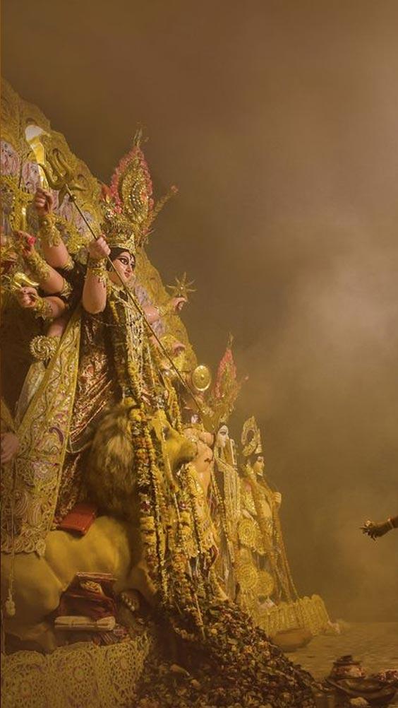 Photo of Maa Durga in kolkata. Image of Durga Maa in HD.