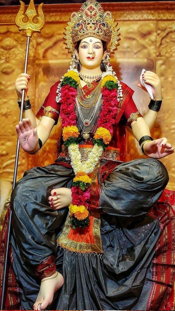 Photo of Durga Maa face. Image of Durga Maa wallpaper.