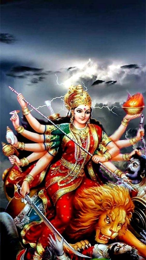 Photo Durga Maa ka. Image of Durga Maa face.