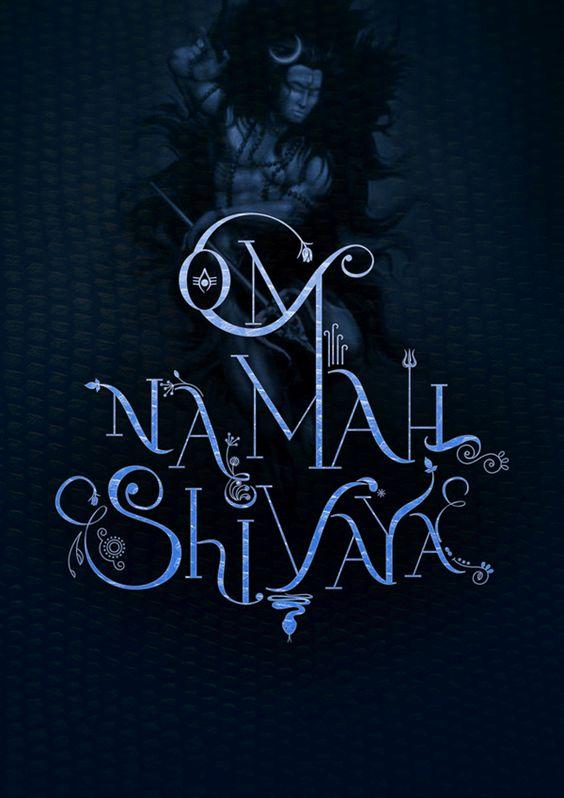 OM NAMAH SHIVAYA TYPOGRAPHY