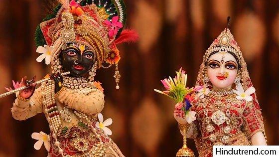 Radha with Krishna wallpaper