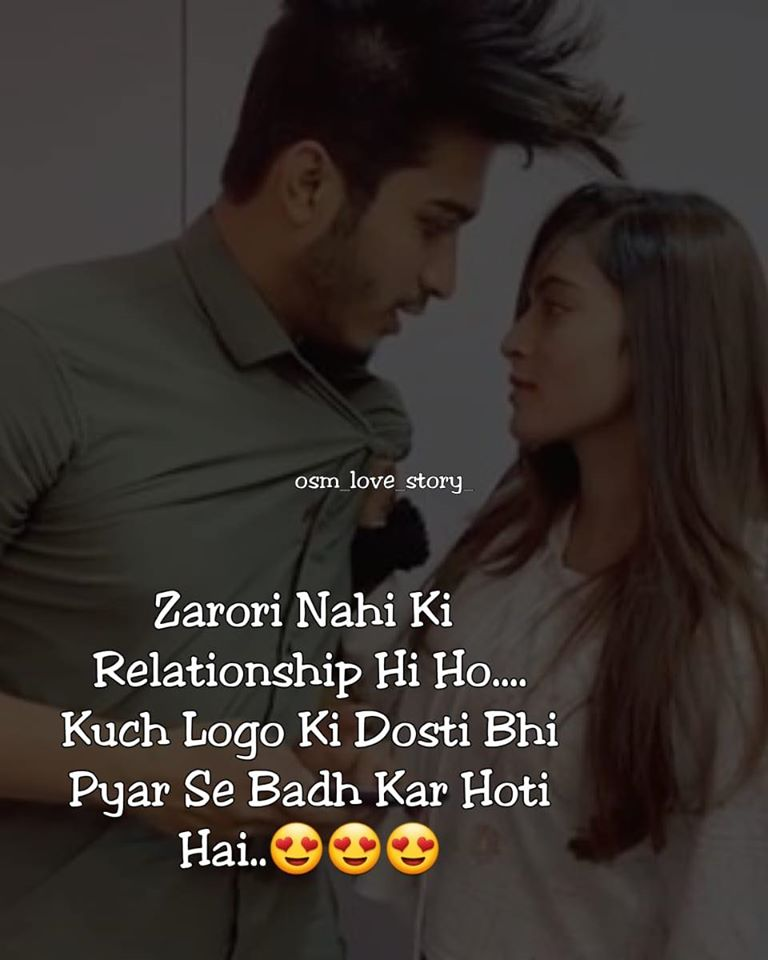 hindi love status shayari