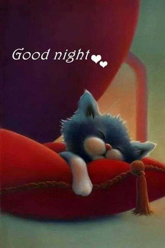 good night image animation