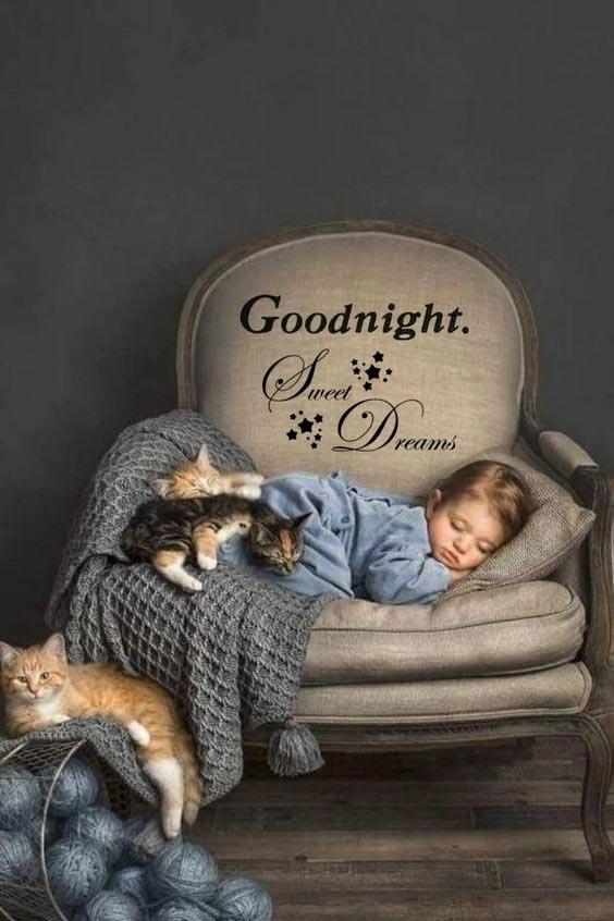 good night image cute baby