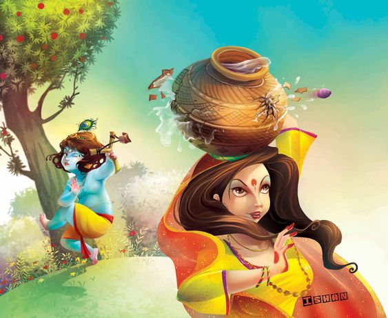 wallpaper of krishna janmashtami